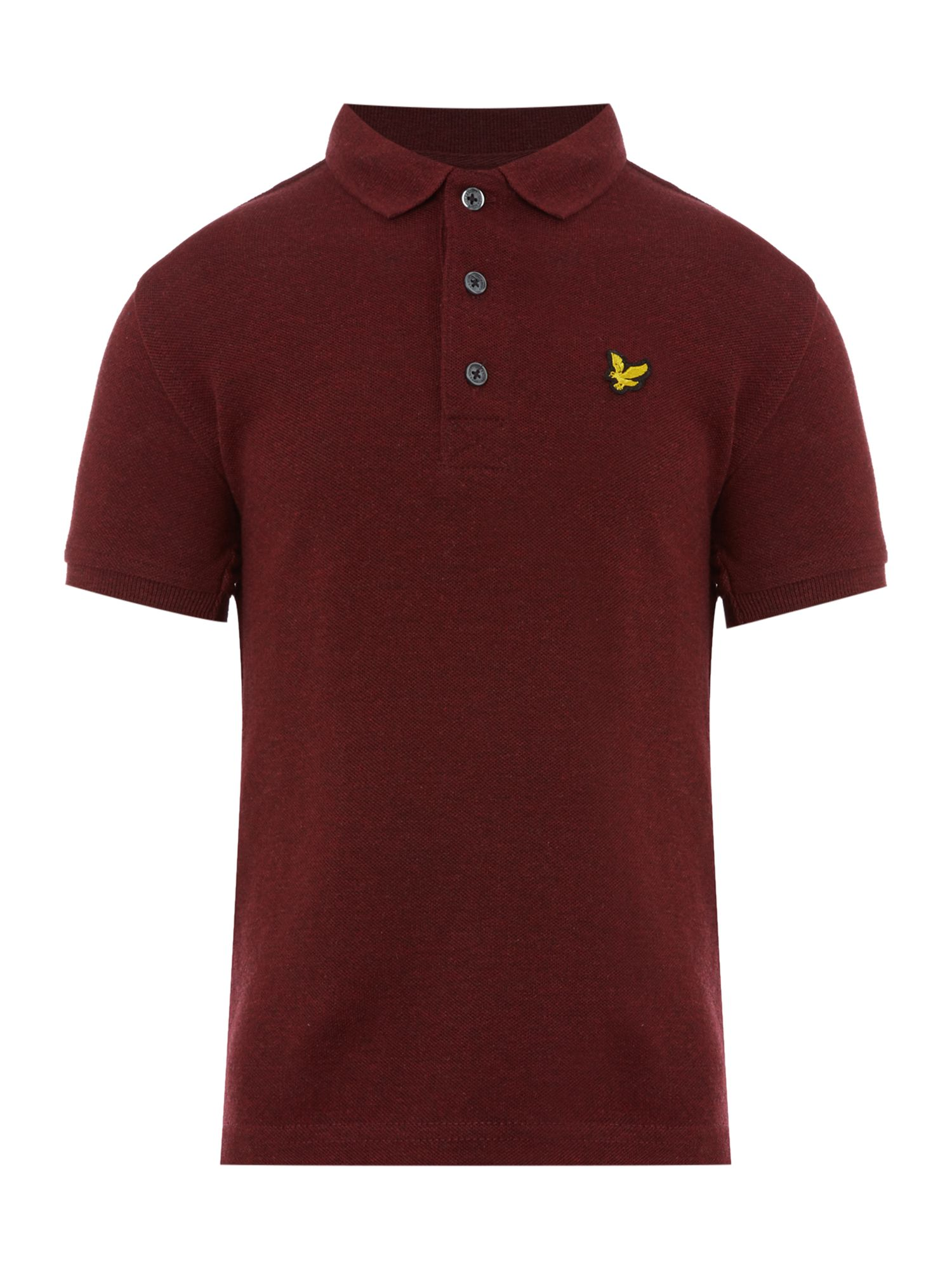 Lyle and Scott Lyle and Scott Boys Marl Small Logo Polo, Claret