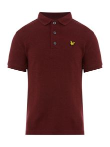 Lyle and Scott Boys Marl Small Logo Polo