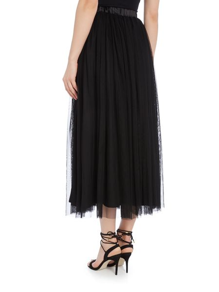 Lace and Beads Midi Skirt