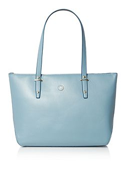 Charlotte blue medium tote bag