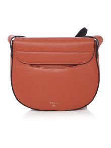 Nica Mila orange cross body bag