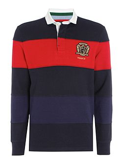 Belford Cut & Sew Stripe Long Sleeve Rugby