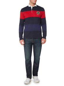 Howick Belford Cut & Sew Stripe Long Sleeve Rugby Shirt