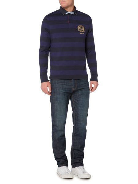 Howick Colenorton Stripe Long Sleeve Rugby Shirt