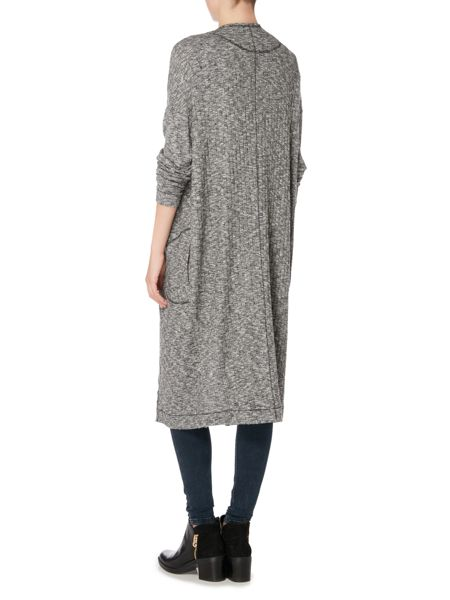 Label Lab Supersoft brushed rib longline cardigan
