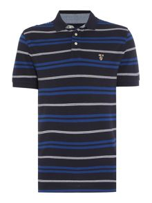 Howick Bedford Stripe Short Sleeve Polo
