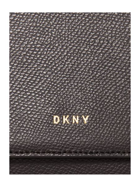 DKNY Saffiano crosshatch black backpack