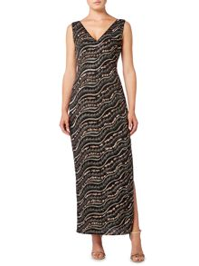 Biba Embellished column maxi dress
