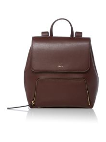 DKNY Saffiano crosshatch burgundy backpack