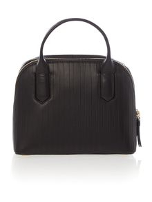DKNY Gansevoort pinstripe black dome bag