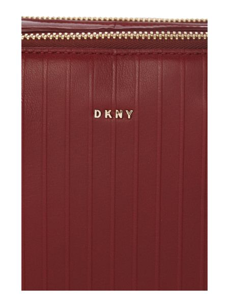 DKNY Gansevoort pinstripe red dome bag