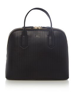 Gansevoort pinstripe black dome bag