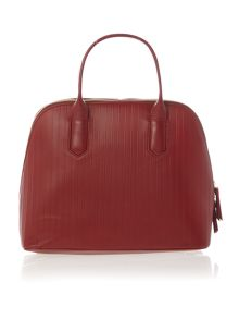 DKNY Gansevoort pinstripe red satchel bag