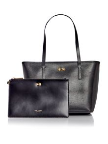 Ted Baker Anaiya black bow small tote bag
