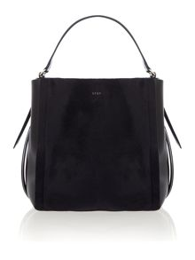 DKNY Riverside hai black/blue haircalf bucket bag