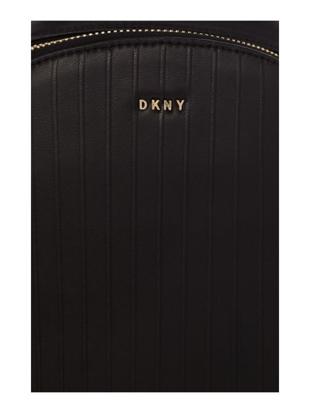 DKNY Gansevoort pinstripe black backpack