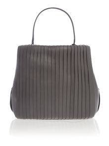 DKNY Calf leather grey pleated bucket bag