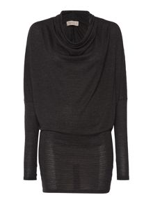 Label Lab Textured cowl knit dress