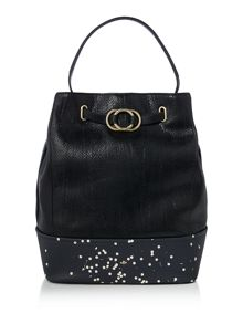 Nica Stella black bucket bag
