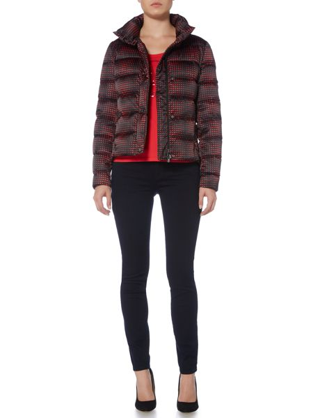 Armani Jeans Short down padded jacket with hood
