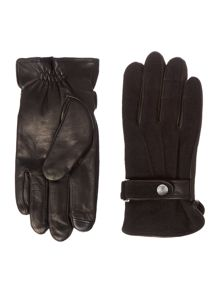 Polo Ralph Lauren Wool Melton Leather Mix Glove