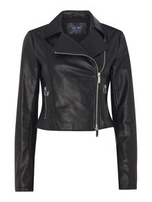 Armani Jeans Reptile printed ecoleather jacket