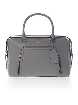 Chelsea vintage large grey pocket satchel bag