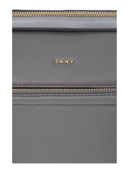 DKNY Chelsea vintage large grey pocket satchel bag