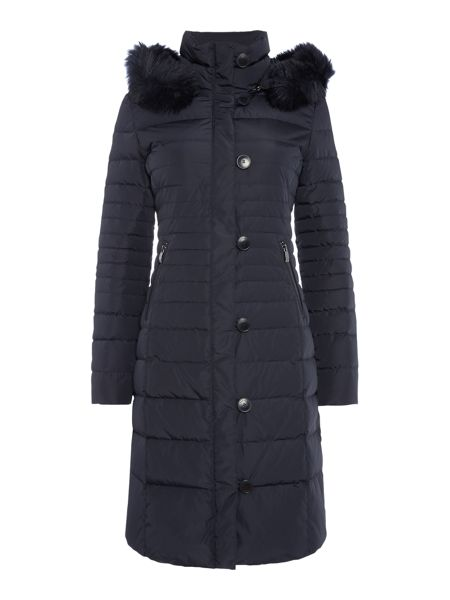 Armani Jeans Long padded jacket with removable hood