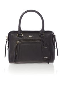 DKNY Chelsea vintage small black pocket satchel bag