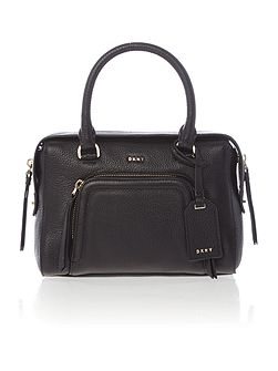Chelsea vintage small black pocket satchel bag