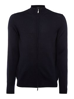 Baldemario lim fit zip thru funnel neck cardigan