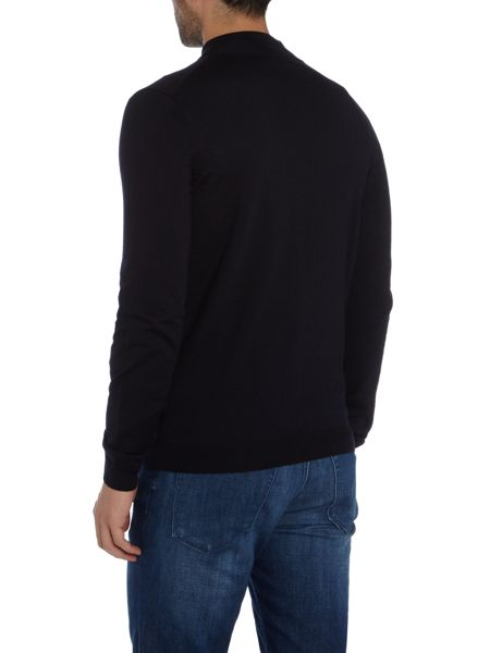 Hugo Boss Baldemario lim fit zip thru funnel neck cardigan