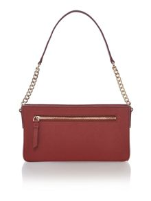 DKNY Saffiano chain small red shoulder bag