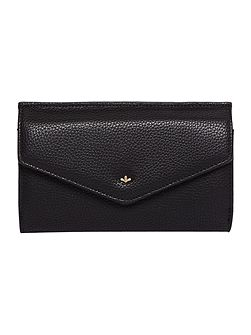 Kayla black large flap over purse