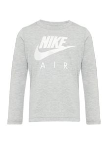 Nike Boys Long Sleeve Nike Air Logo T-Shirt