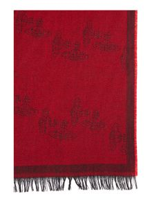 Vivienne Westwood All over embroidered logo scarf