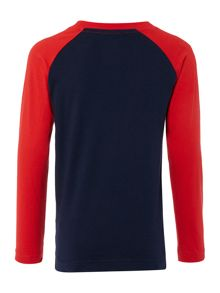 Nike Boys Long Sleeve Raglan Nike LogoT-Shirt