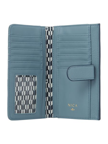 Nica Kayla blue large flap over purse