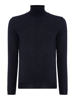 Musso B slim fit roll neck merino jumper