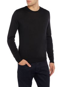 Hugo Boss Leno B slim fit crew neck merino jumper