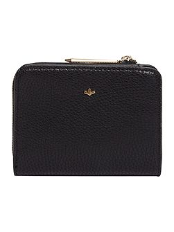 Gina black small zip around purse
