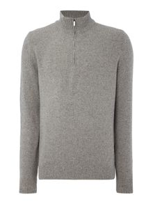 Hugo Boss Belmonte zip funnel neck wool blend jumper