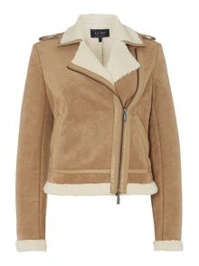Armani Jeans Faux shearling jacket