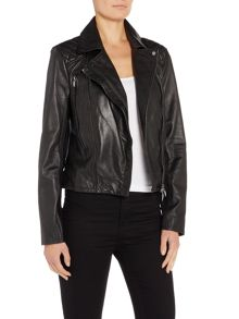 Armani Jeans Vintage effect leather jacket