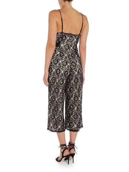 tfnc Sleeveless Lace Cullotte Jumpsuit