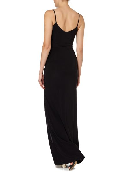 Jessica Wright Sleeveless V Neck Slinky Maxi Dress