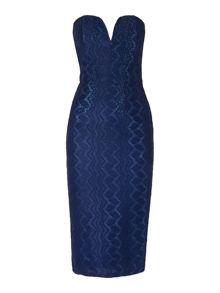 tfnc Bandeau Midi Bodycon Dress