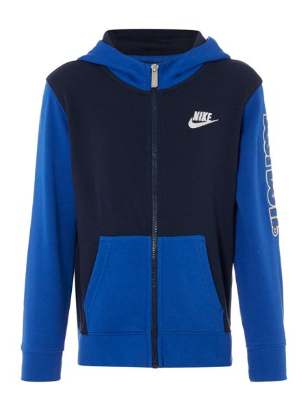 Nike Boys Zip Up Hooded Just Do It Sweatshirt