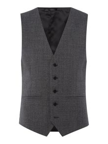 Kenneth Cole Parsons Slim Fit Textured Waistcoat